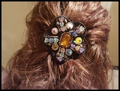 turn a pin into a barrette