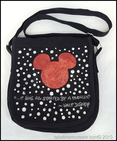 DIY Disney Mickey messenger Bag