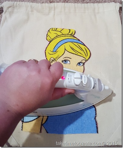 diy Cinderella magic towel drawstring bag