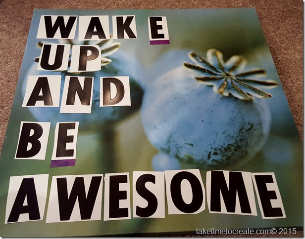 wake up and be awesome diy project