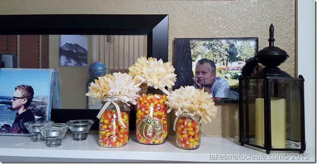 DIY Mason Jars for the fall