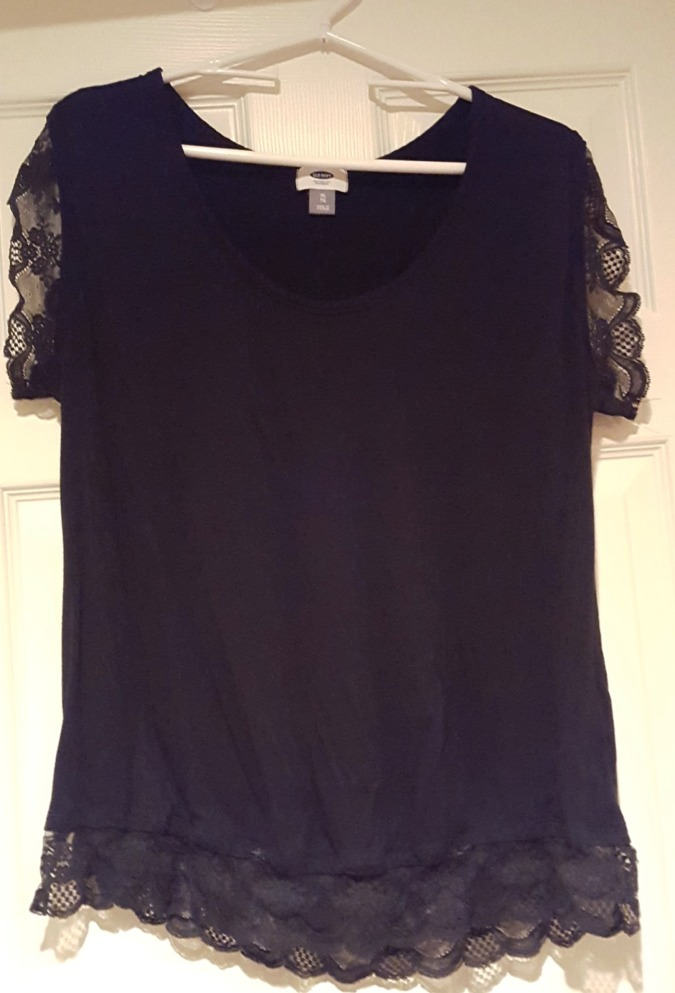 Easy diy add lace to a t shirt