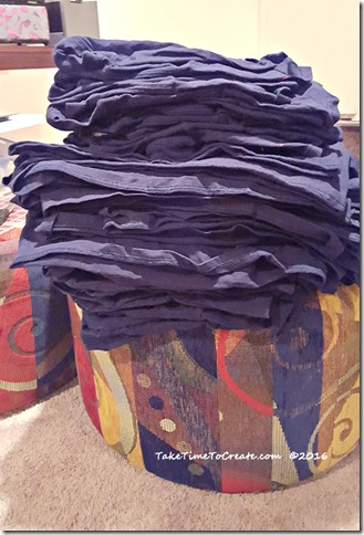 stack of shirts