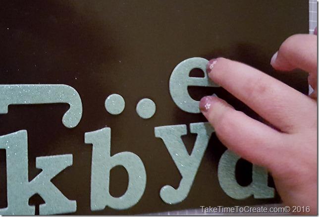 DIY Magnet Chip Board Letters