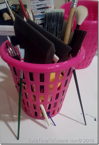 DIY Duct Tape Covered Plastic Basket