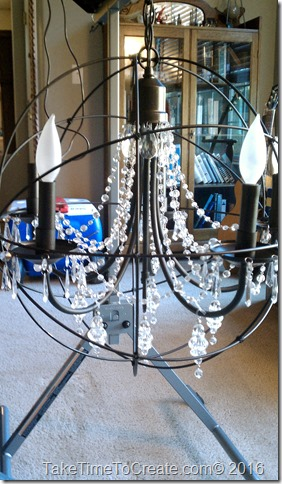 Restoration Hardware Chandelier DIY